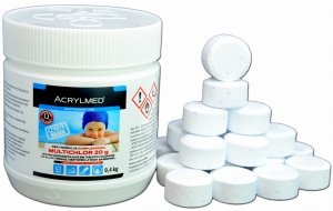 Acrylmed Multichlor Tabletki 20g 400g CHLOR w tabletkach do basenu