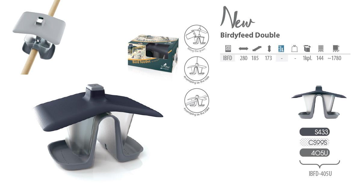 Karmnik Dla Ptaków Podwójny Na Balustradę Poręcz Balkon Prosperplast Birdyfeed Double Ibfd 405u